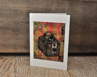 Vintage Kodak Brownie camera blank greeting card