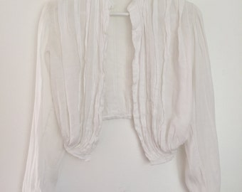 Victorian pleated shrug cropped cover up