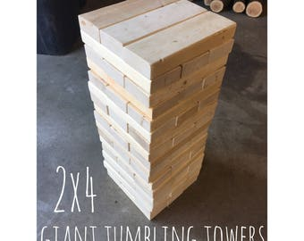 Giant tumbling towers - tilting towers - giant yard game - wedding game - reception game