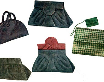 1944 Set of Four Hand Bags Pattern by EvaDress