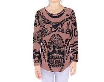 Moana inspired sweetheart skater dress for Maui shirt tattoo