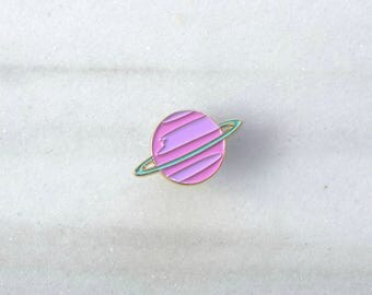 PASTEL SATURN Pin - Enamel Pin, Lapel pin, Pins, Enamel Pins, Pin, Planet pin, Gold enamel pin, Soft enamel pin