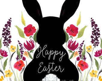 Easter Bunny Printable, Happy Easter Instant Download