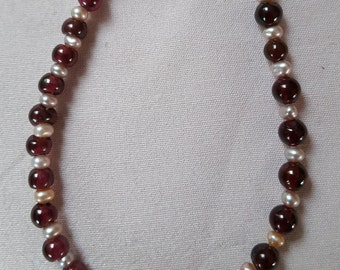 Garnet and pearls