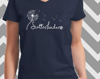 Scatter Kindness, Like seeds of a Dandilion, Oversized, Soft and Comfy Statement T-Shirt
