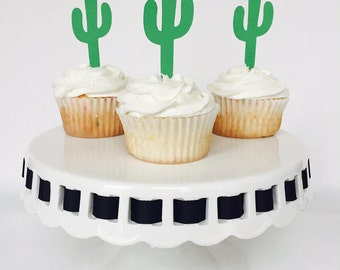 Cactus Cupcake Topper - Mexican Fiesta - Party - Cake Topper - Green - Texas - West - Margarita - Birthday Party - Baby Shower
