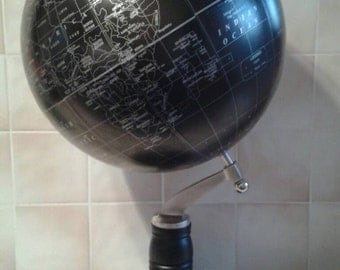 """Large Hand painted globe with unique phrases. Wedding globe guest book. 12"""" globe"""
