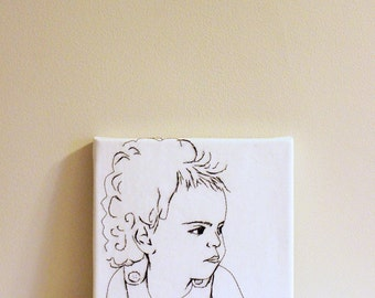 Custom made embroidered portrait