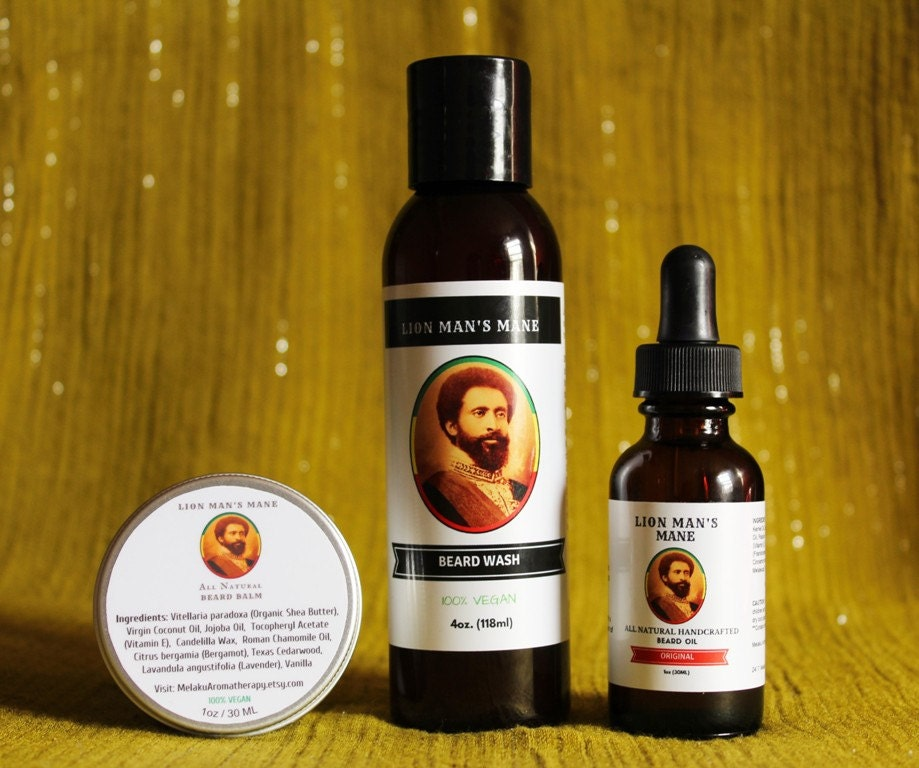 beard care kit beard grooming kit gift set by melakuaromatherapy. Black Bedroom Furniture Sets. Home Design Ideas