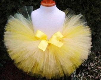 Birthday Tutu, Yellow Tutu, Newborn Tutu, Easter Tutu, Ombre Tutu, Baby Tutu, Yellow Skirt, Sewn Tutu, Toddler Tutu, Easter Skirt, Tutu