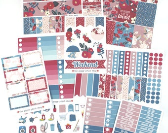 Deluxe Berry Blossoms Planner Sticker Collection - For use in fall Erin Condren, Happy Planner, Plum Paper, Filofax, Kikki K, Calendar