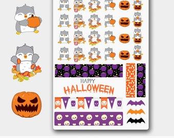 Halloween Planner Stickers, Halloween Boxes, Halloween Decorations, Halloween Washi, Halloween Owl, Owl Sticker