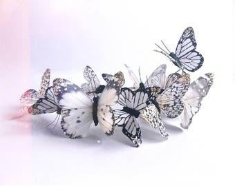 Florentina Boho Bridal Butterfly Flower Crown Woodland Wedding