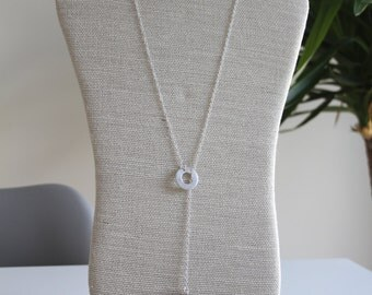 Sterling Silver Pebble Necklace, Layered Necklace, Lariat & Y Necklace, Pebble Necklace, Sterling Silver Necklace, Long Necklace