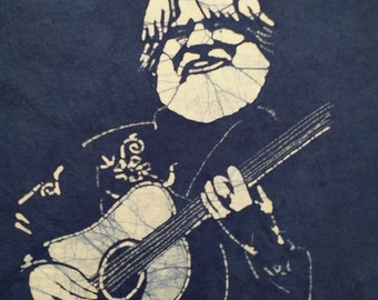 Bill Nershi String Cheese Incident hand made navy blue batik.
