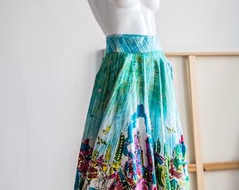 Circle Skirt | Mexican Skirt | Hand Painted Skirt | Hand Painted Mexican Skirt | Ethnic Skirt | Ethnic Circle Skirt | Colorful Circle Skirt
