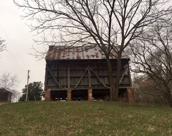 Old Corn Shed, Charles County, Maryland, Digital Photography