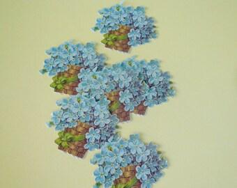 Anna Griffin Flower Basket Die Cuts Paper Scrapbook Supplies Craft Supplies