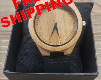 Wood watch,mens watch, wooden watch, Engraved Wooden Watch, Groomsmen Gift, Father Gift, Mens watch, Anniversary Gift,Boyfriend Gift