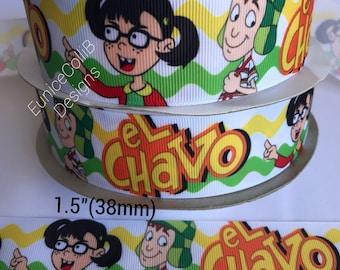 """1.5"""" El chavo y amigos inspired ribbon"""