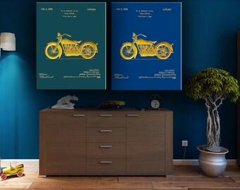 Patent Harley Davidson, Printable Harley, Motorcycle Wall Decor, Harley Blue print, Harley Poster, Harley Bike, Motorcycle Gift, Harley Art