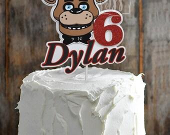 Five Nights at Freddy's cake topper, FNAF centerpiece Cake Topper,  FNAF Decor,  Boys Birthday, FNAF,