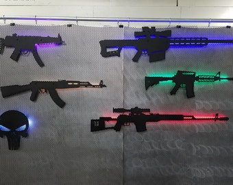 Gun Lights: M4(AR-15), AK47, MP5, Barrett, Dragunov. Made in the USA. Veteran owned