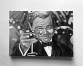 GREAT GATSBY greeting card - print of 'Gatsby' acrylic painting by Stephen Mahoney - vintage portrait of Leonardo DiCaprio in iconic scene