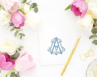 Wedding Monogram | Vintage Monogram - Wedding Logo, Monogram - Custom  Wedding Monogram - AM or MA