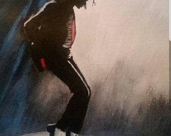 "9x12"" giclee print of THE KING Michael Jackson painting"