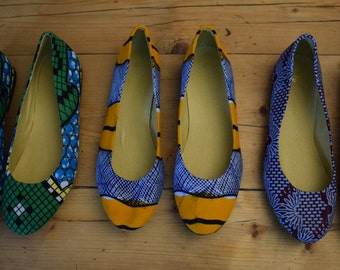 Ballerinas in African fabric