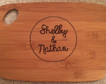 Simple Dots Personalized Cutting Board