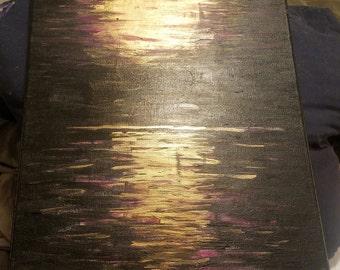 "Acrylic on Canvas ""Purple Haze"" 16x20"