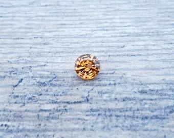 3.65 carat Champagne Golden Zircon 8.8mm Round Shaped Loose Gemstone