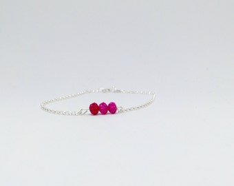 Topaz bracelet, 925 sterling silver topaz bracelet, pink topaz bracelet, pink topaz jewellery, 925 silver pink topaz bracelet
