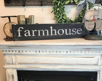 Farmhouse sign /  Distressed sign / farmhouse style wall decor / country rustic sign / rustic sign
