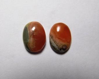 Rhodochrosite loose gemstone, Natural rhodochrosite cabochon gemstone, Rhodochrosite gemstone, 2 pcs. rhodochrosite 19 Cts. #2619N