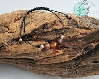 Red Carnelian Gemstone Fertility wish Bracelet, with Red Copper Beads, Healing, Reiki - IVF Gift