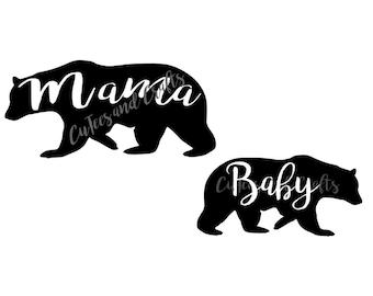 Mama and Baby Bear - SVG - PNG