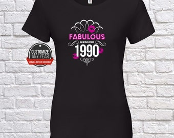Fabulous since 1990, 27th birthday, 27th birthday gifts for women, 27th birthday gift, 27th birthday tshirt, gift for 27th ,