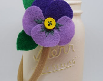 Felt Pansy Accessory - Spring Special: 2 for 10.00