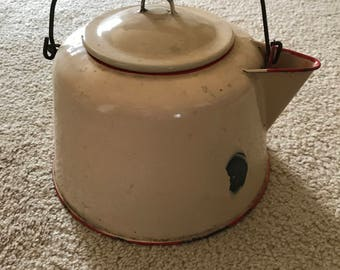 Vintage Enamel Coffee/Tea Pot