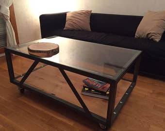Low Style industrial-Industrial style coffee table