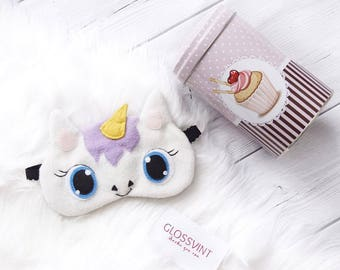 Unicorn sleep mask Holiday gift Funny sleep mask Sleep mask for women Eye Mask Unicorn eye mask Sleeping mask Sleep mask