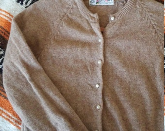 Beige Wool Cardigan by JackBro - Small