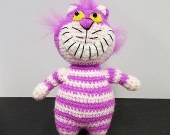 Cheshire Cat from Alice in Wonderland Miniature Doll 4 Inches Tall Thread Crochet