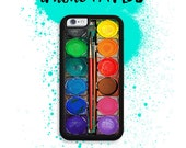 iPhone 7 or 7 PLUS Rainbow Watercolor Paintset Artist Image Phone Case