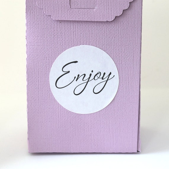 Wedding Stickers, Treat Bag Labels, Enjoy, Wedding Favor Stickers, Wedding Favor Labels