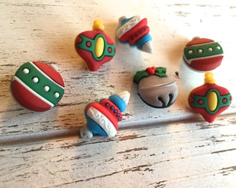"""Christmas Ornament Buttons, Packaged Novelty Button Assortment """"Tree Trimmers"""" Style #4777 by Buttons Galore, Sewing, Crafting Buttons"""
