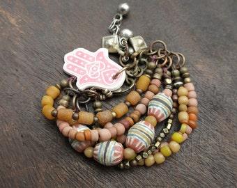 Summer Sorbet  - Trade Beads - Bohemian Bracelet
